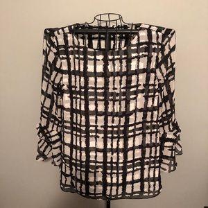 IMNYC by Isaac Mizrahi shirt with ruffled sleeves